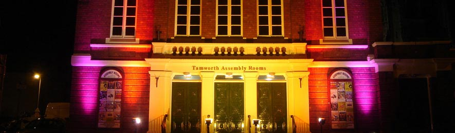 Assembly Rooms at night
