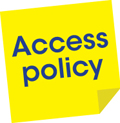 Access policy button